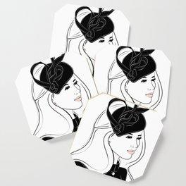 Meghan Markle Inspired Fascinator Portrait Coaster