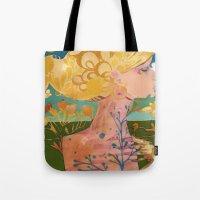 blondie Tote Bags featuring Blondie by Bailey Saliwanchik