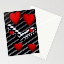 OpArt -51- Valentine coffeetime Stationery Cards