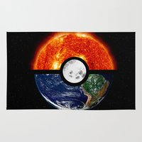 pokeball Area & Throw Rugs featuring Galaxy Pokeball by Advocate Designs