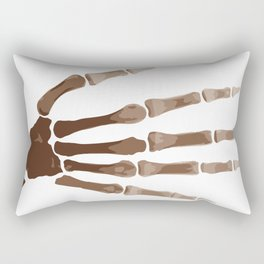 Isolated Boney Hand Rectangular Pillow