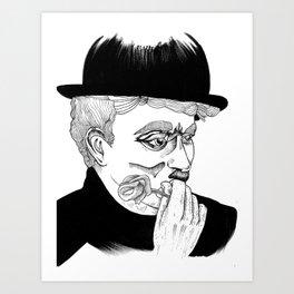 Chaplins rose Art Print