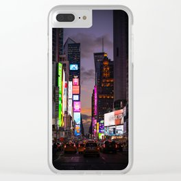 Times Square in Manhattan New York City Clear iPhone Case