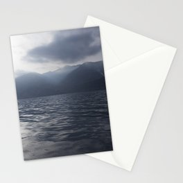 Cloudy morning on the sea, photographed from the boat Stationery Cards