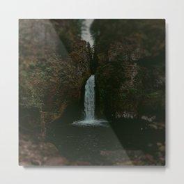 Wahclella Falls x Oregon Waterfall Metal Print