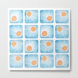 Watecolor Squares Metal Print