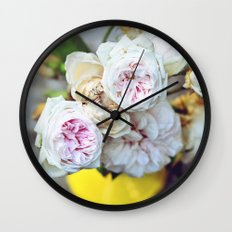 The Last Days of Spring - Old Roses I Wall Clock