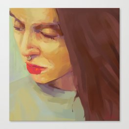 Green portrait Canvas Print