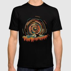 The Geometry of Sunrise MEDIUM Black Mens Fitted Tee