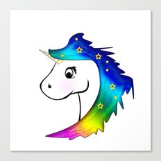 Unicorn and Stars Canvas Print