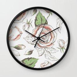 Rosé Watercolor Wall Clock