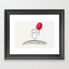 my red balloon Framed Art Print