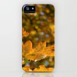 Yellow Oak Leaves iPhone Case