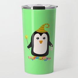 Happy Halloween Witch Penguin T-Shirt Dghgg Travel Mug