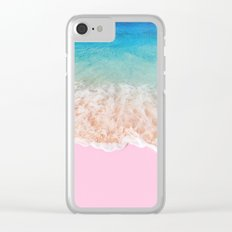 PINK SAND Clear iPhone Case