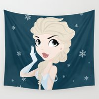 elsa Wall Tapestries featuring Elsa by swisscreation