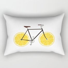 Lemon Bike Rectangular Pillow