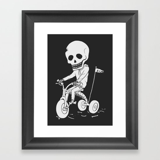 Death Kid Bone Ride Framed Art Print