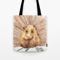 hamster Tote Bags featuring Hamster by Creative Stace
