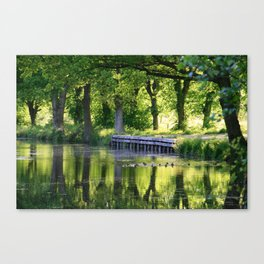 Spring on the canal Canvas Print