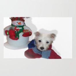 Teddy and the Snowman Rug