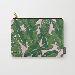 Leaves Baninque in Pink Conch Carry-All Pouch