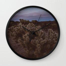 Cholla Cactus Garden VIII Wall Clock