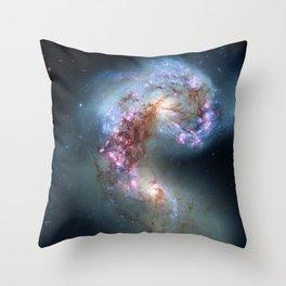 Interacting galaxies Throw Pillow