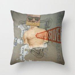 Super Ju Jitsu Liquid Silver Throw Pillow