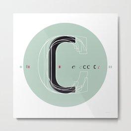 C c Metal Print