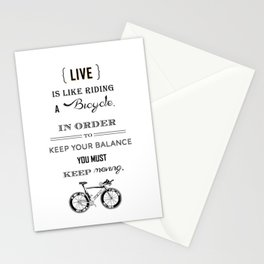 Life is like riding2 Stationery Cards