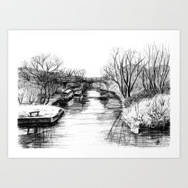 Bridge over the Grand Union Canal Art Print