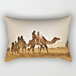 Desert Stroll Rectangular Pillow