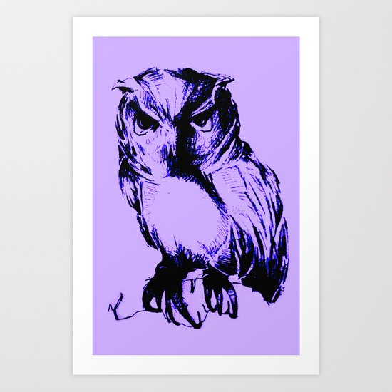 Owl Color Art Print