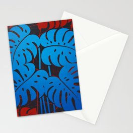 PLANTS - philodendron#2_Blue Stationery Cards
