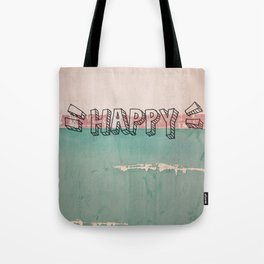 happy on a wall Tote Bag