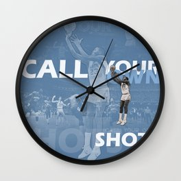 CALL YOUR OWN SHOTS Wall Clock