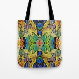 Colorful  Nature Wood Pattern Psychedelic Art Tote Bag