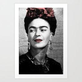 Halftone Frida Art Print