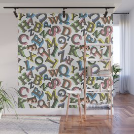 Letters Wall Mural