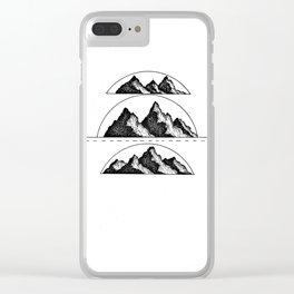 Mountain fresh air Clear iPhone Case