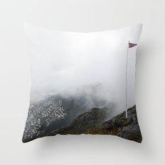 Mist Norway Throw Pillow
