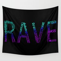 rave Wall Tapestries featuring Rave  by Illuminany