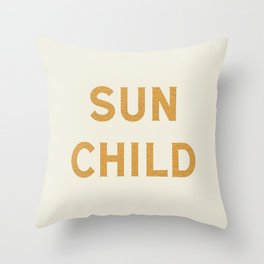 Sun child Throw Pillow
