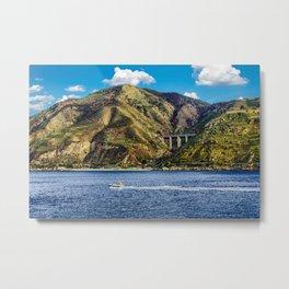 Pilot Boat in Strait of Messina Metal Print