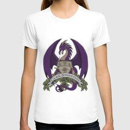 Clan Stonefire Crest - Purple Dragon T-shirt