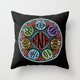 Lay down your soul Throw Pillow