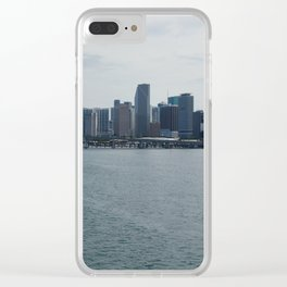 Miami Skyline 3 Clear iPhone Case