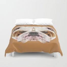 English Bulldog // Natural  Duvet Cover