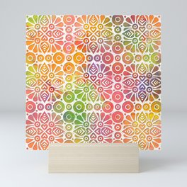 DP050-8 Colorful Moroccan pattern Mini Art Print